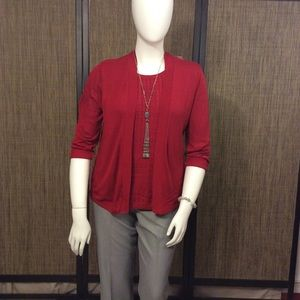 Alfred Dunner knit cardigan.
